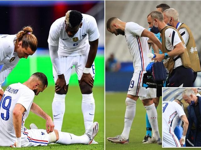 ĐT Pháp lo sốt vó vì Benzema chấn thương, nguy cơ lỡ EURO 2021?
