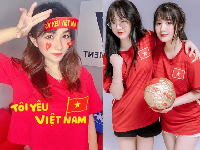 """Fan nữ xinh """"bỏ"""" Ronaldo và Bồ Đào Nha, cổ vũ Việt Nam thắng UAE"""