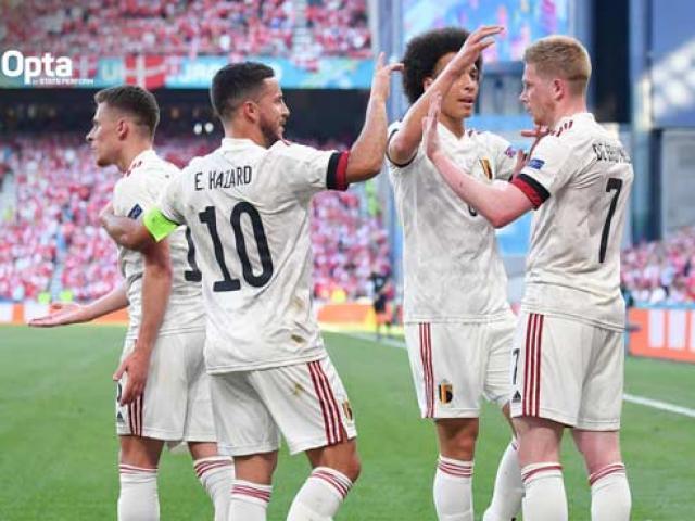 ĐT Bỉ thắng ngược Đan Mạch ở EURO: De Bruyne và Hazard phá kỷ lục 13 năm