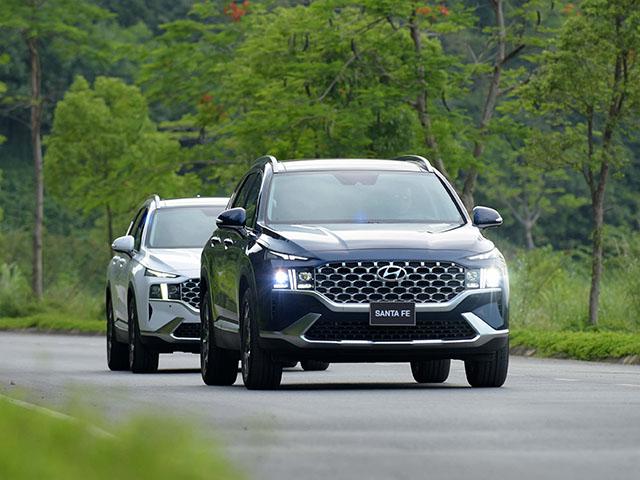Giá xe Hyundai Santa Fe lăn bánh tháng 6/2021