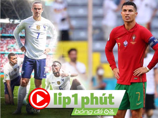 """Bảng """"tử thần"""" EURO khó lường vì Pháp - Bồ Đào Nha, Ronaldo dẫn đầu Vua phá lưới (Clip 1 phút Bóng đá 24H)"""