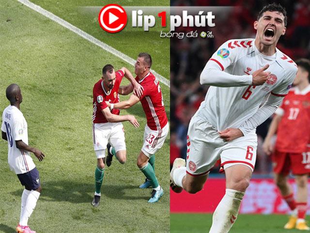 Kịch bản Bồ Đào Nha & Đức bị loại tức tưởi, Đan Mạch giành vé thần kỳ (Clip 1 phút Bóng đá 24H)