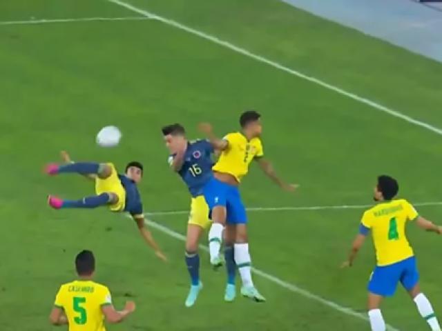 Brazil thua bàn sốc ở Copa America: Móc vô-lê đẹp như Rooney xé lưới Man City