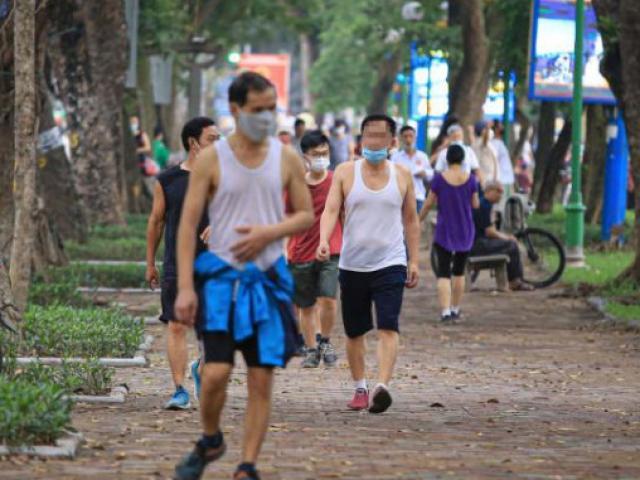 Hà Nội cho phép người dân tập thể dục, thể thao ngoài trời từ 0h ngày 26/6