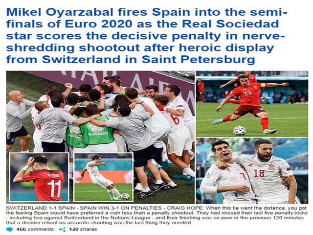 Báo chí châu Âu khen chiến binh Sommer, chỉ trích hàng công Tây Ban Nha