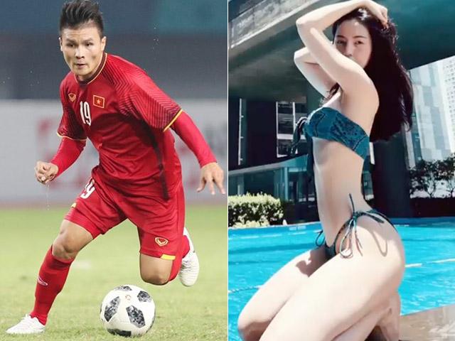 Bạn gái tin đồn Quang Hải khoe dáng đẹp như tranh vẽ bên hồ bơi