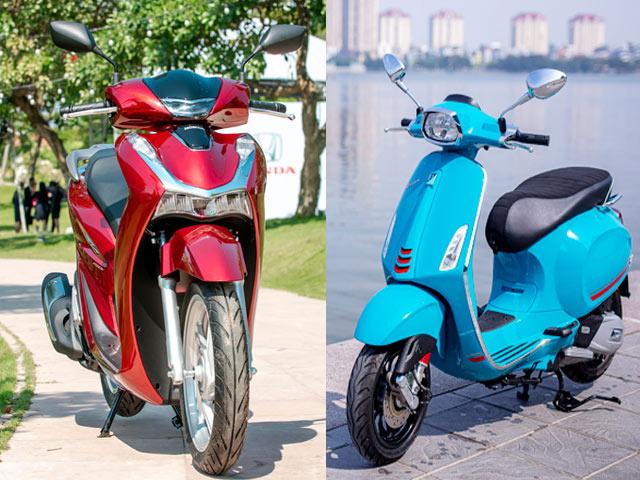 """So sánh Vespa Sprint với Honda Sh150i: """"Kẻ tám lạng, người nửa cân"""""""