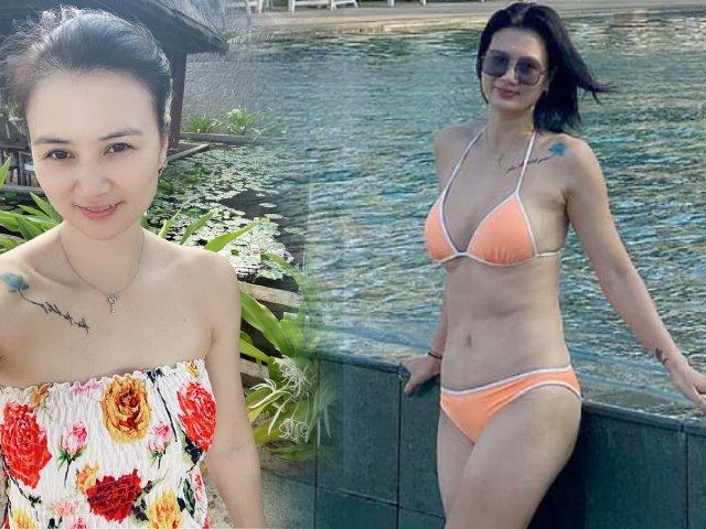 """Hoa khôi bóng chuyền Kim Huệ những lần diện bikini khiến fan """"nổi sóng"""""""