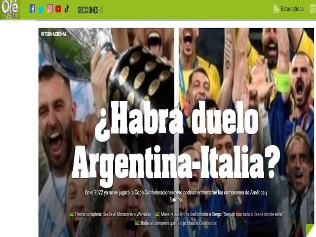 """Báo Argentina gạ ĐT Italia đấu trận """"sinh tử"""", tìm ra nhà vô địch tuyệt đối"""