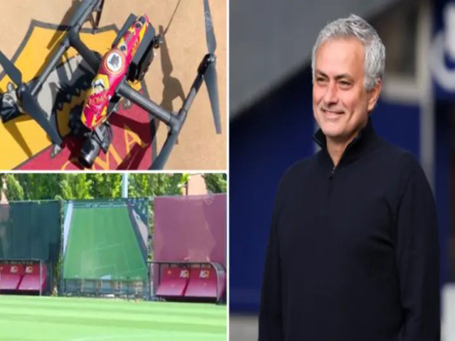 """Mourinho cực dị tại AS Roma: Dùng """"camera bay"""" soi học trò tập luyện"""