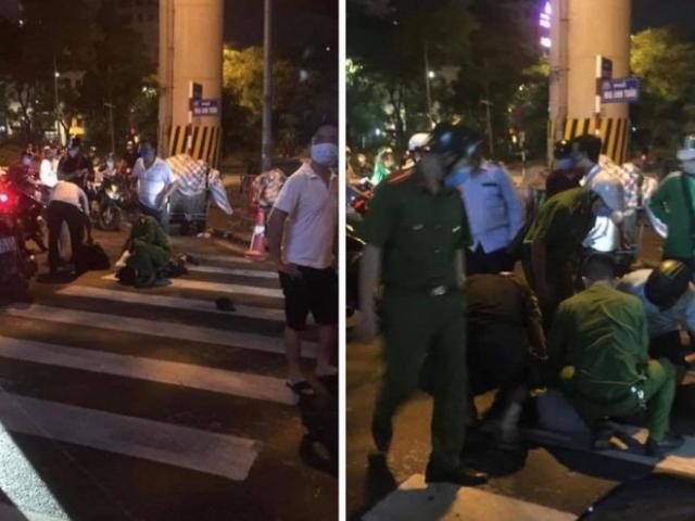 Khống chế đối tượng đập phá cây ATM tại Hoàng Cầu, Hà Nội