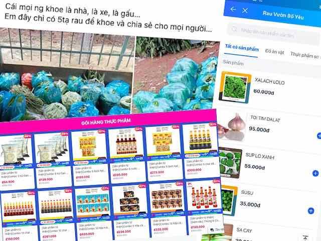 """Dịch COVID-19: """"Bùng nổ"""" chợ online kiểu mới trong mùa giãn cách"""
