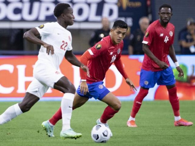 """Video Costa Rica - Canada: Phá """"dớp"""" 14 năm, đoạt vé quyết đấu Mexico (Gold Cup)"""