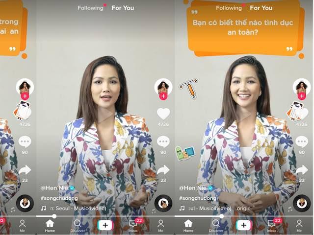 Hoa hậu Kỳ Duyên, H'Hen Niê cùng lên TikTok tham gia thử thách #SongChuDong