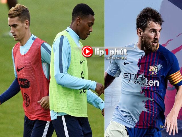 Barca gạ MU đổi Martial lấy Griezmann, Man City dễ bỏ Grealish để chốt Messi (Clip 1 phút Bóng đá 24H)