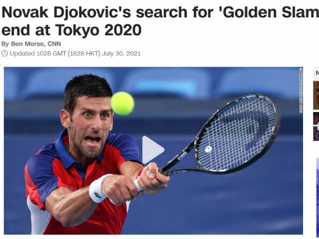 """Djokovic thua sốc lỗi hẹn HCV Olympic: Báo chí xót xa vì """"dớp"""" 13 năm"""