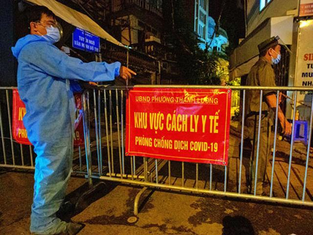 Hà Nội: Tạm phong tỏa con ngõ do nhiều ca dương tính với SARS-CoV-2 tại một công ty