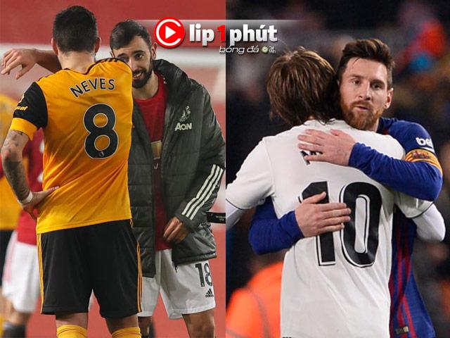 """MU nhờ Fernandes săn """"nhạc trưởng"""" Wolves, Real Madrid có cơ hội mua Messi (Clip 1 phút Bóng đá 24H)"""