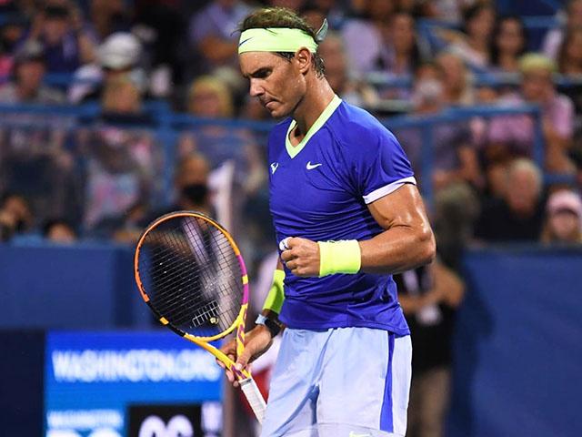 """Video tennis Nadal - Jack Sock: 3 set kịch tính, """"Bò tót"""" hú vía (Vòng 2 Citi Open)"""