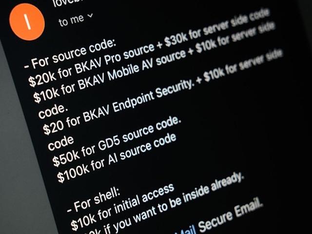 Quá nhiều người hỏi vì tò mò, hacker công khai giá bán mã nguồn BKAV