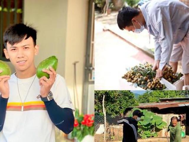 Nghỉ dịch, nhiều bạn trẻ về quê làm nông chăm vườn phụ giúp bố mẹ