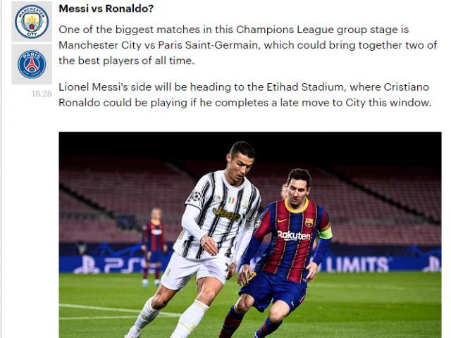 """Báo chí khao khát Ronaldo đấu Messi ở vòng bảng Cúp C1, chờ MU """"đòi nợ"""""""