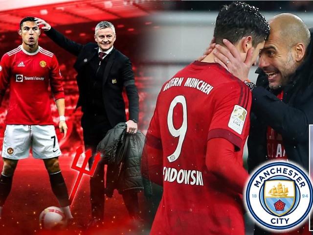 """Solskjaer đánh bạc khi MU mua Ronaldo, Man City dễ """"tất tay"""" vì Lewandowski (Clip 1 phút Bóng đá 24H)"""
