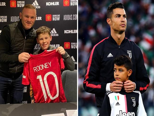 """Con trai Ronaldo """"hổ phụ sinh hổ tử"""": Đại náo MU, làm lu mờ """"quý tử"""" nhà Rooney"""