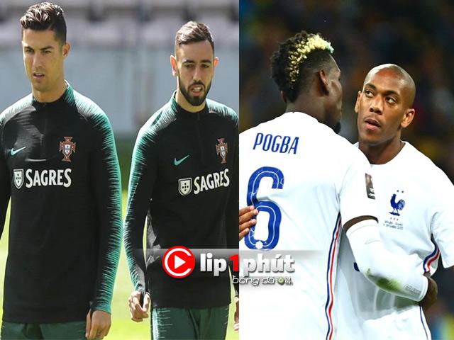 Fernandes khiến Ronaldo dễ mất quyền đá 11m, Martial được kỳ vọng hồi sinh (Clip 1 phút Bóng đá 24H)