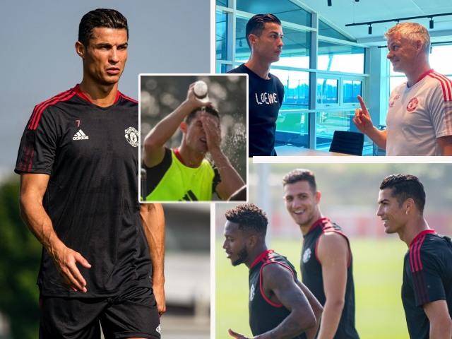 """Ronaldo rạng rỡ tập buổi đầu cùng MU, đi bóng cực chất khiến đồng đội """"lóa mắt"""""""