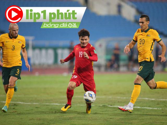 """ĐT Việt Nam lăn xả đấu Australia, """"điên đầu"""" vì trọng tài và VAR (Clip 1 phút Bóng đá 24H)"""