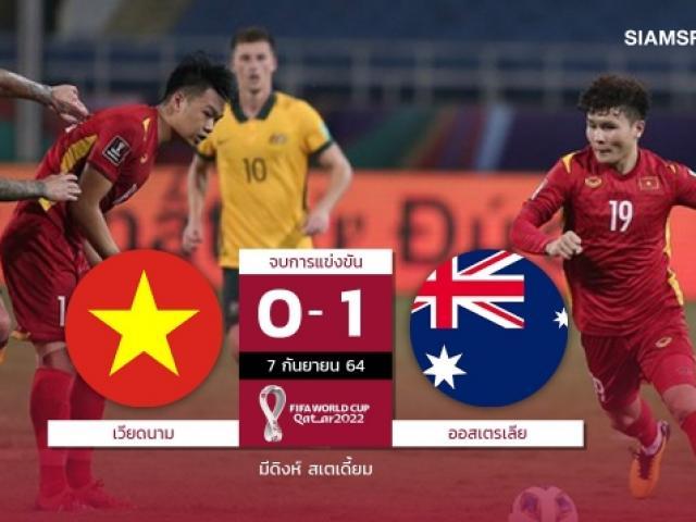 Người Thái nói gì về đội tuyển Việt Nam sau trận đấu với Australia?