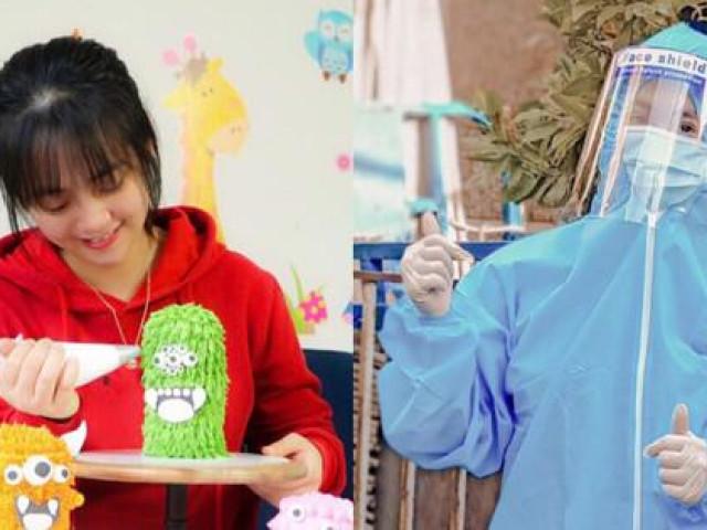 Bị kẹt lại TP. HCM, cô gái tham gia chống dịch và trổ tài làm bánh truyền cảm hứng