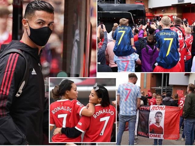 """Ronaldo đá chính trận ra mắt MU, 76.000 fan """"nhuộm đỏ"""" Old Trafford"""