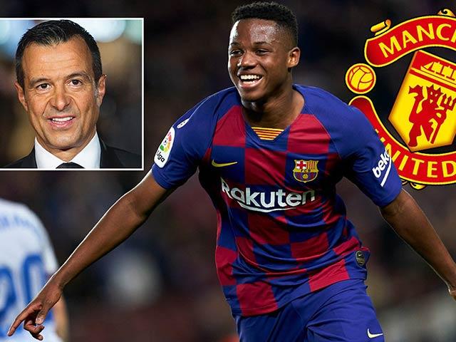 """MU lại hưởng lợi vụ Ronaldo, """"siêu cò"""" xui cuỗm Ansu Fati của Barca miễn phí"""