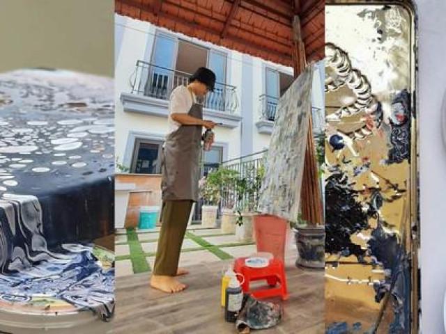 Chàng trai đam mê với những bức tranh vẽ từ… rác