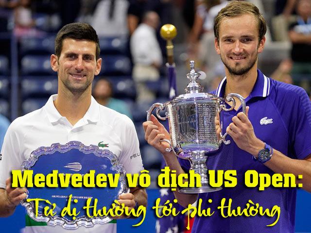 Medvedev vô địch US Open: Từ dị thường tới phi thường
