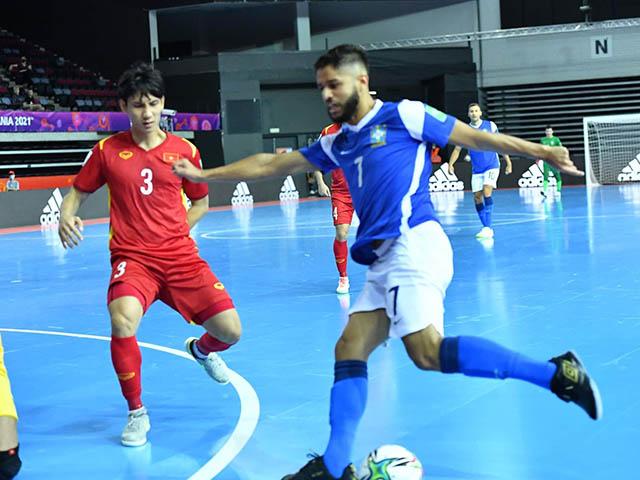 """Futsal Việt Nam thua Brazil 1-9 ở World Cup: """"Không thể kèm được họ"""""""