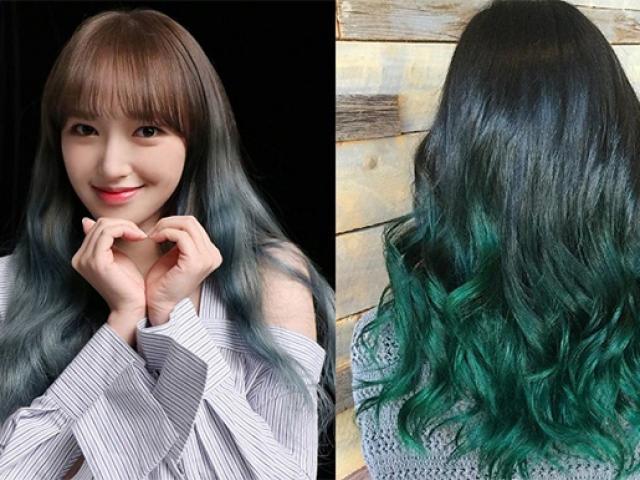Top 10 màu tóc xanh rêu đẹp cá tính ấn tượng hot nhất hiện nay