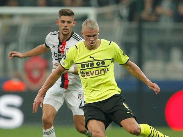 Video cúp C1 Besiktas - Dortmund: Haaland tỏa sáng, âu lo phút bù giờ