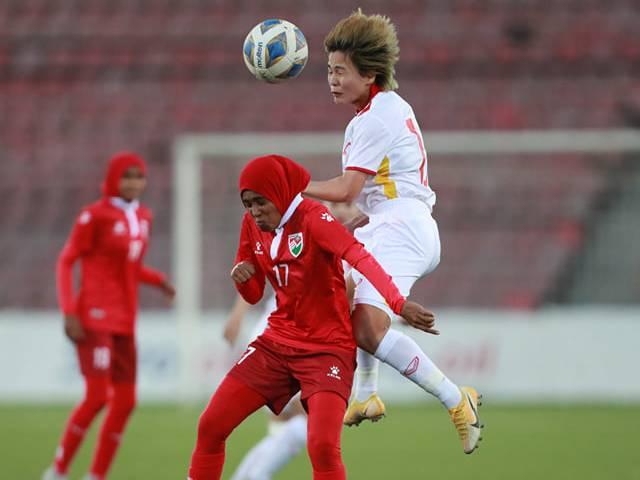 Cập nhật kết quả bóng đá nữ Việt Nam - Maldives: Đại tiệc hạ màn (Hết giờ)