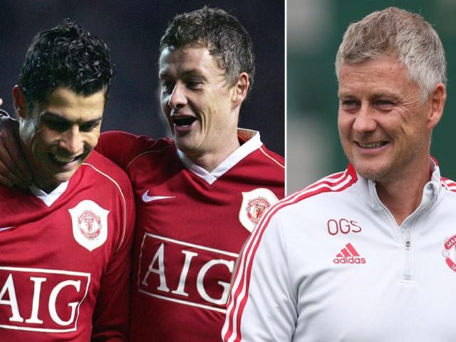 """MU đấu Aston Villa, Ronaldo nhắm ghi 4 bàn để sánh ngang """"thầy"""" Solskjaer"""