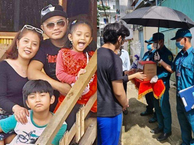 Vợ và 2 con nhỏ đau buồn nhận tro cốt của ca sĩ Y Jang Tuyn
