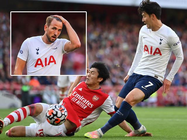 Tottenham đá như chấp người trước Arsenal vì Kane, Son Heung Min không cứu nổi