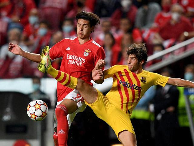 Trực tiếp bóng đá Benfica - Barcelona: Thẻ đỏ cuối trận (Cúp C1) (Hết giờ)