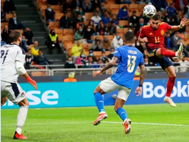 Video bóng đá Italia - Tây Ban Nha: Hiệp 1 bùng nổ, cú đúp xuất thần (Bán kết Nations League)