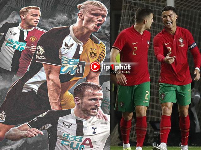 """""""Đại gia"""" Newcastle siêu giàu vẫn khó xưng bá ở Anh, Ronaldo khiến triệu fan MU phấn khích (Clip 1 phút Bóng đá 24H)"""