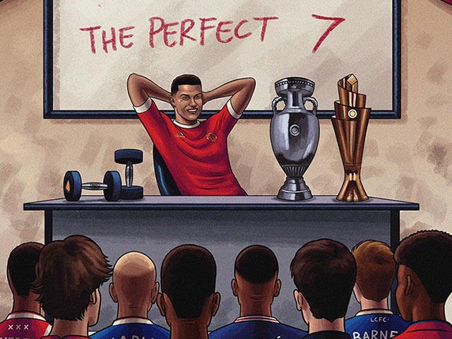 Ảnh chế: Ronaldo mở lớp dạy làm thế nào trở thành số 7 hoàn hảo
