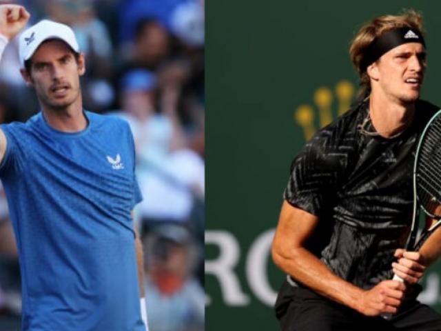 """Video tennis Murray - Zverev: Bản lĩnh đáng nể, thăng hoa loạt """"đấu súng"""" (Vòng 3 Indian Wells)"""